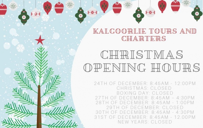 Christmas/New Year Opening Hours